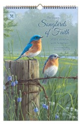2020 Songbirds of Faith Large Wall Calendar