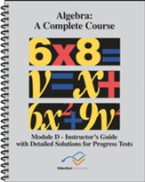 VideoText Algebra Module D Instructor's Guide