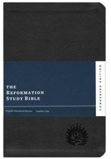 ESV Reformation Study Bible, Condensed Edition - Black, Leather-Like, Imitation Leather