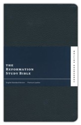 ESV Reformation Study Bible, Condensed Edition - Black, Premium Leather, Leather