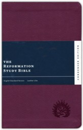 ESV Reformation Study Bible, Condensed Edition - Plum, Leather-Like, Imitation Leather