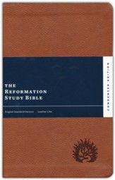 ESV Reformation Study Bible, Condensed Edition - Light Brown, Leather-Like, Imitation Leather