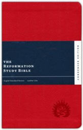 ESV Reformation Study Bible, Condensed Edition - Red, Leather-Like, Imitation Leather