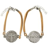 Philippians 4:13, Cross, Disc Bracelet