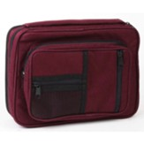 Canvas Organizer with Study Kit Bible Cover, Burgundy, Extra Large
