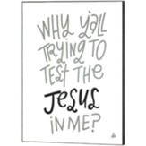 Why Y'all Trying to Test the Jesus in Me Wall Plaque