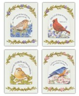Die Cut Bird and Flower Notes, Set of 12
