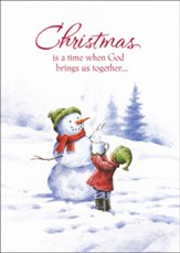 Snowman Christmas Card with Magnet, Set of 18