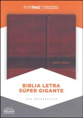 Biblia Letra Super Gte. RVR 1960, Piel Imit. Marron, Solapa, Ind.  (RVR 1960 Super GtPt Bible, Imit. Leather, Brown, Flap, Ind.)