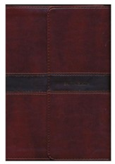 RVR 1960 Large-Print Personal-Size Bible--soft leather-look, brown with magnetic flap