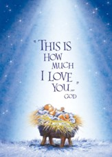 Baby Jesus Christmas Christmas Card with Magnet, Set of 18