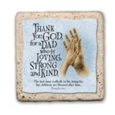 Dad with Praying Hands Sentiment Tile