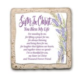 Sister in Christ Sentiment Tile