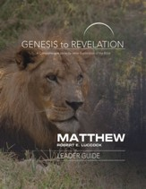 Matthew Leader Guide, eBook (Genesis to Revelation Series)