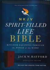 NKJV Comfort Print Spirit-Filled Life Bible, Third Edition, Imitation Leather, Burgundy