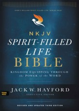 NKJV Comfort Print Spirit-Filled Life Bible, Third Edition, Genuine Leather, Black Indexed