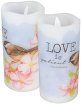 Love is Patient Flameless LED Candle