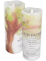 The Lord's Prayer Flameless LED Candle