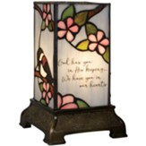 God Has You in His Keeping Stained Glass Memorial Lamp