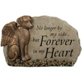 No Longer By My Side... But Forever in My Heart, Angel Dog, Garden Stone