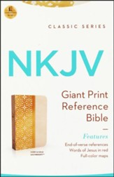 NKJV Personal Size Giant Print End of Verse Reference Bible, Imitation leather,(ivory gloss