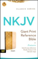 NKJV Personal Size Giant Print End of Verse Reference Bible, Imitation leather, ivory gloss--indexed