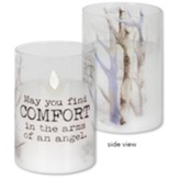 May You Find Comfort LED Hurricane Candle