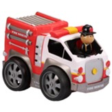 Pull Back Vehicle with Moving Figure, Fire Truck