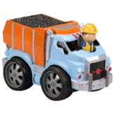 Pull Back Vehicle with Moving Figure, Dump Truck