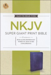 NKJV Super Giant Print Reference Bible, Leathersoft, Rich Navy