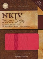 NKJV Study Bible, Second Edition, Leathersoft, Coral Sheen