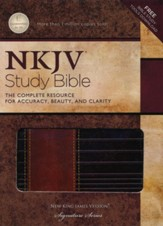 NKJV Study Bible, Second Edition, Leathersoft, Rustic Brown/Dark Mahogany--indexed