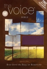 The Voice Full Bible, Leathersoft, Plum/Orange Shimmer - Slightly Imperfect