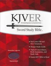 KJVer (Easy Reader) Large Print Sword Study Bible, Personal Size, Ultrasoft Burgundy