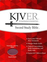KJVer (Easy Reader) Large Print Sword Study Bible, Personal Size, Ultrasoft Burgundy, Thumb Indexed
