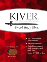KJVer (Easy Reader) Large Print Sword Study Bible, Personal Size, Ultrasoft Black/Tan