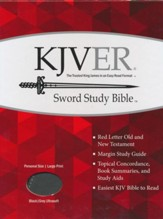 KJVer (Easy Reader) Large Print Sword Study Bible, Personal Size, Ultrasoft Black/Grey