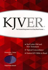 KJVer (Easy Reader) Personal Size Bible, Ultrasoft Dark Purple/Light Purple, Thumb Indexed