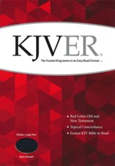 KJVER (Easy Reader) Large Print Thinline Bible, Ultrasoft Black
