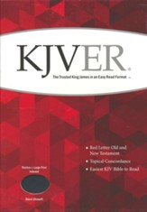 KJVer (Easy Reader) Large Print Thinline Bible, Ultrasoft Black, Thumb Indexed