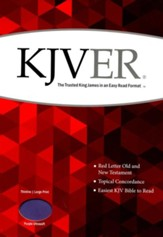 KJVer (Easy Reader) Large Print Thinline Bible, Ultrasoft Purple