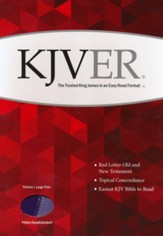 KJVer (Easy Reader) Large Print Thinline Bible, Ultrasoft Dark Purple/Light Purple - Imperfectly Imprinted Bibles