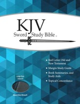 KJV Large Print Sword Study Bible, Ultrasoft Black/Grey, Thumb Indexed