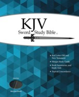 KJV Giant Print Sword Study Bible, Ultrasoft Black/Grey