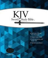 KJV Giant Print Sword Study Bible, Ultrasoft Black/Grey, Thumb Indexed