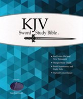 KJV Giant Print Sword Study Bible, Ultrasoft Dark Purple/Light Purple