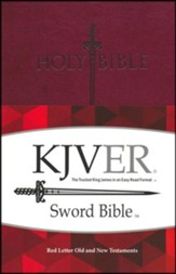 KJVer (Easy Reader) Personal Size Sword Value Thinline Bible, Ultrasoft Burgundy