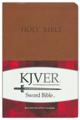 KJVer (Easy Reader) Large Print Sword Value Thinline Bible, Ultrasoft Tan