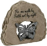 For Me Walk By Faith Not By Sight Garden Stone