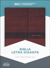 Biblia Letra Gigante NVI, Simil Piel Marron, C/Cierre, Ind.    (NVI Giant Print Bible, Brown Imit. Leather, Mag. Flap, Ind.)